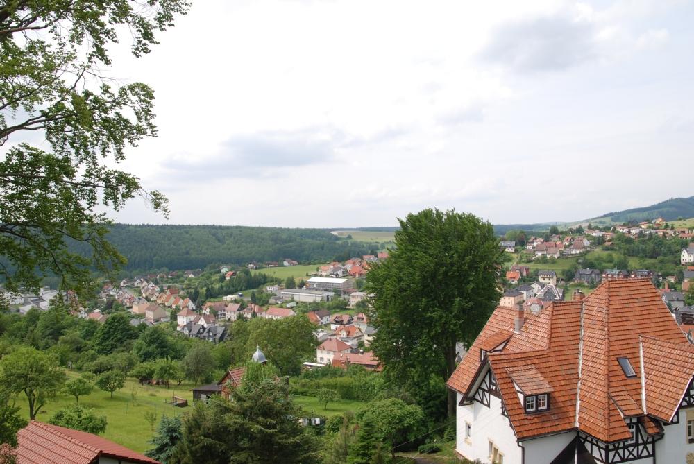 Blick aus dem fenster land  Ferienwohnung Panorama ***** – Familie Kranich in Frankenblick ...