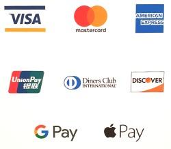 akzeptierte Kartenzahlungen
